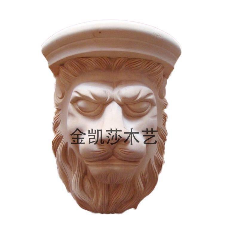 木雕梁托图案狮子头
